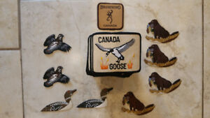 FISHING HUNTING CRESTS PATCHES DOG BROWNING GOOSE ETC