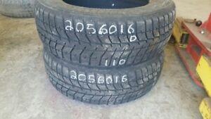 Pair of 2 Bridgestone Blizzak WS70 205/60R16 WINTER tires (50% t