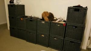 Dark Grey Storage Bins - 14 in total