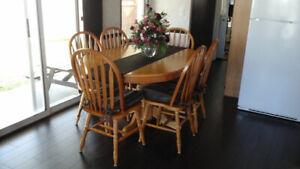 7 Piece Solid Maple Wood Dinette Set - $290.00
