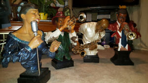 Collectable Jazz Musican Figurines.