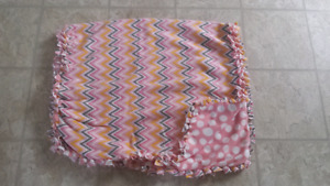 New double sided knotted blanket