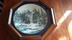 """KEIRSTEAD PLATE IN FRAME """"THE SAWMILL-KINGS LANDING"""" 1ST  SERIES"""