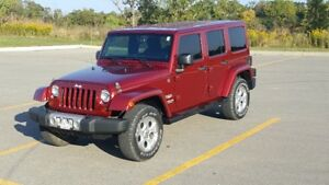 2013 Jeep Wrangler Unlimited Sahara, Deep Cherry Red