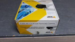 Brand New AXIS IP M1124 Camera with wall mount, box.