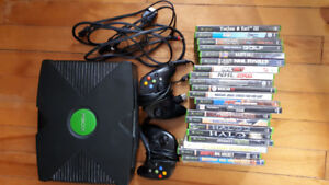 Xbox original console with 21 games