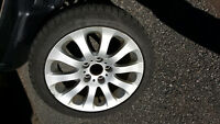 OEM BMW 328x iDrive Mag Wheels and Snow Tires