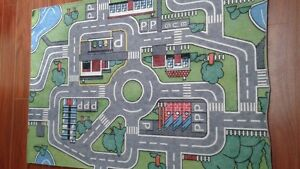 rug whit roads for toy cars