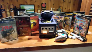 Gamecube  with gameboy adapt zelda mario games and others