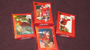 REDUCED -4 UNOPENED Boxes of Coca-Cola  Xmas Greeting Cards-1996