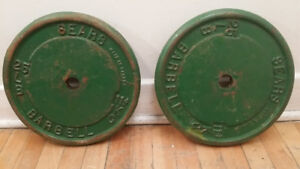poids - disque - musculation -BARBELL - 11 kg - 25 lb-  CHAQUE