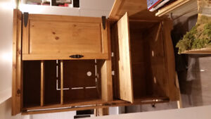 Pine computer armoire -offers accepted