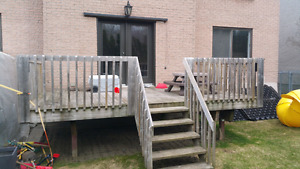 Deck patio en bois de 15x10