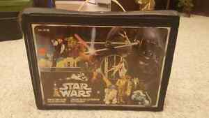 Antique collectible star wars action figure carrying case