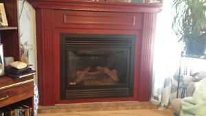 Propane corner fire place for sale