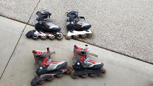 2 pairs of roller blades for sale!