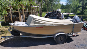 16 1/2 Foot Cope Welded Aluminum Runabout
