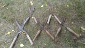 Rustic Metal shears with wooden handles