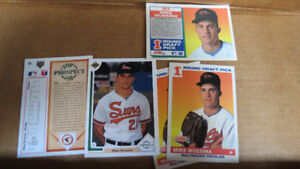 Mike Mussina MLB rookie cards(5)