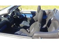 Peugeot 206cc 1.6 53,394 miles 2003