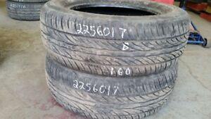 Pair of 2 Sailun Atrezzo SH402 225/60R17 tires (70% tread life)