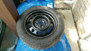 """14"""" steel rims with tires"""