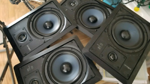 LOT OF 4 POLK AUDIO RC65i IN WALL SPEAKERS