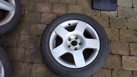 """17"""" alloy and tyre for sale"""