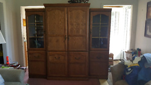 3-Piece Oak Wall Unit