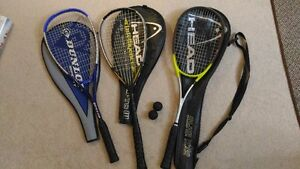 Squash rackets for $10