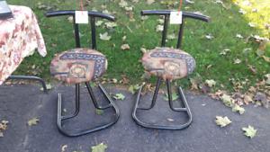Stools - chairs - metal bar stools