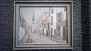 Maurice Utrillo France Framed Print: titled, signed