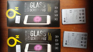 2 glass screen protectors & 2 Batteries for LG G3