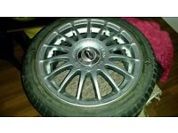 15 inch alloy wheels. Immaculate with four almost new tyres - will fit any car