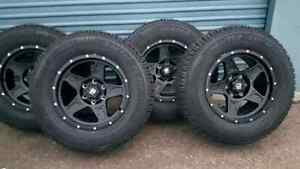 "*** 4 ALL NEW *** 17"" 6X139.7  MATTE BLACK WHEELS & TIRES"