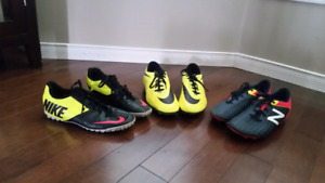 Soccer cleats and turf shoes - Nike and New Balance