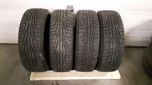 4 - 185/60 R15, Nokian winter tires and rims, 4x100 bolt pattern