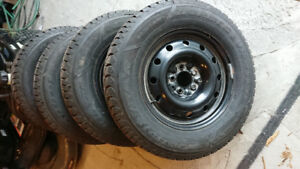 235/65r16 snow tires and rims off chevrolet equinox for sale