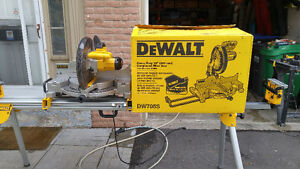 """12"""" Heavy Duty Compound Miter Saw + Compact Miter Saw Stand"""