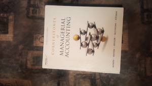 Cornerstones of Managerial Accounting second edition
