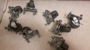 "4- Caster Wheels   2 1/2"" X 1 1/8"""