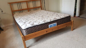 Ikea double bed and sealy posturepedic mattress