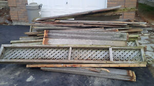 Scrap wood from fencing