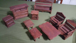 Hand Made Wooden Doll House Pieces
