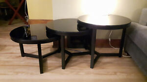 Black Nesting Tables by Ashley Furniture