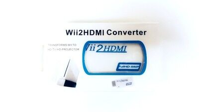 Wii HDMI Adapter Converter + HDMI 6ft Cable for Nintendo Wii Console and HDTV for sale  Shipping to India
