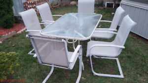 Patio table & 6 chairs(two rotating chairs and four regular)