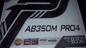 ASRock AB350M Pro4 AM4 Motherboard
