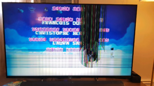 "Sony 55"" broken screen for repair or parts"