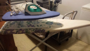 2 Ironing boards and T-Fal Iron